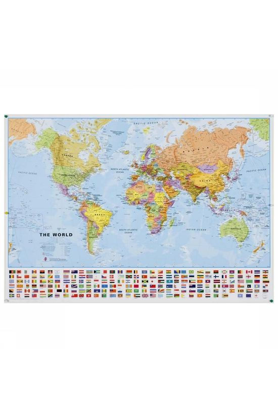 Maps International Map World Political + flags 2018