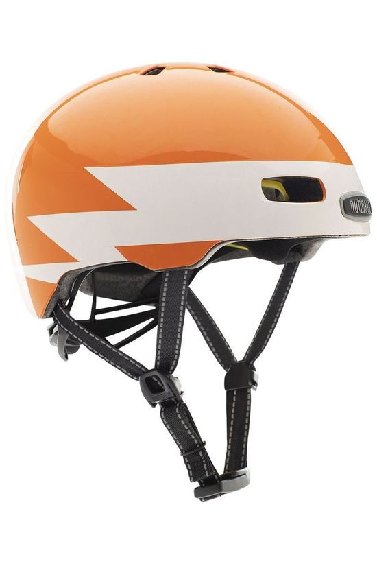 Nutcase Casque Velo Little Nutty Mips Orange/Blanc
