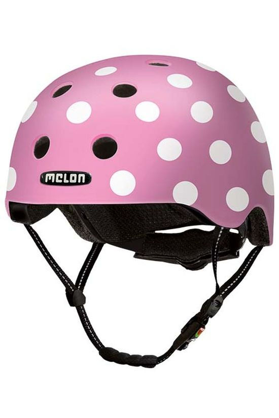 Melon Fietshelm Dotty XXS-S Middenroze/Wit