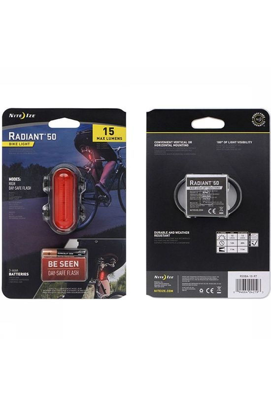 Nite Ize Eclairage Vélo Radiant 50 Bike Light Rouge