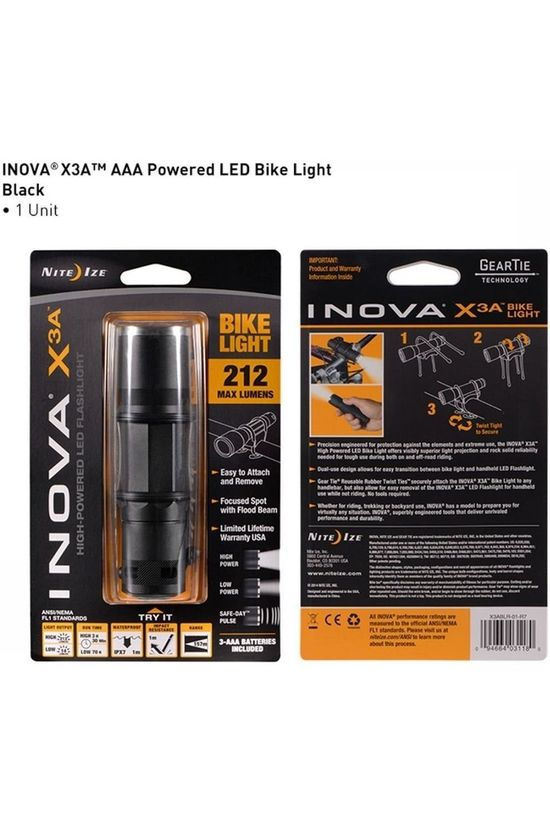 Nite Ize Bike Lighting X3A - Bike Light black