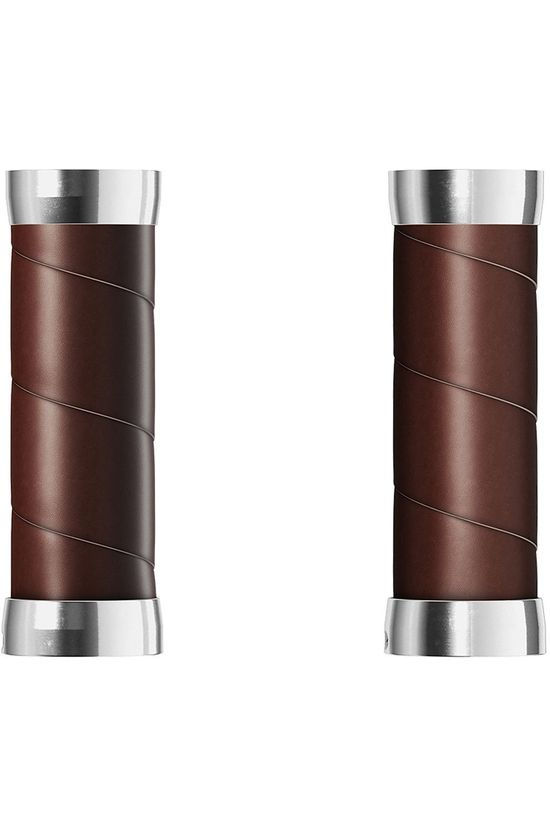 Brooks Guidoline Slender Leather Grips (130+130Mm) Antic Brown Brun Foncé
