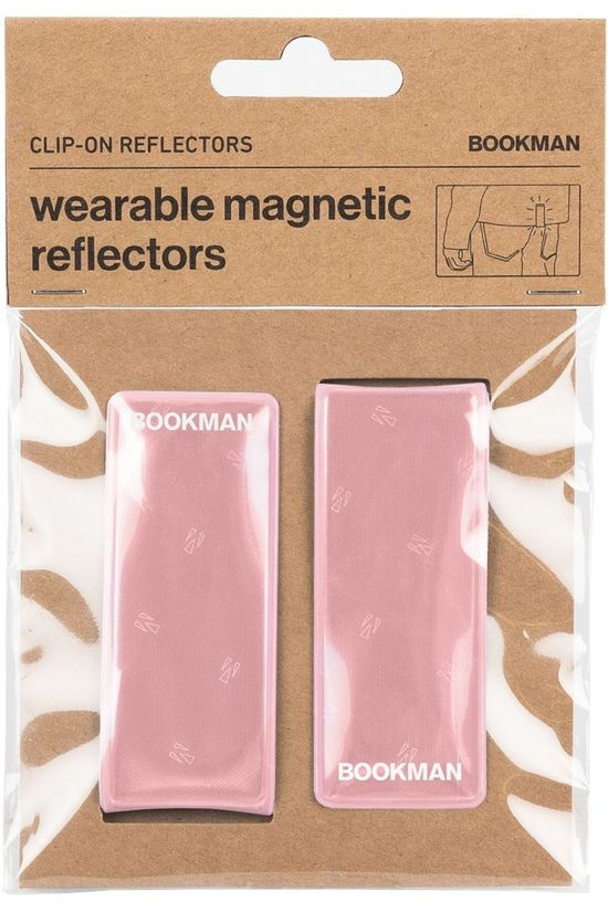 Bookman Gadget Clip-On Reflectors light pink
