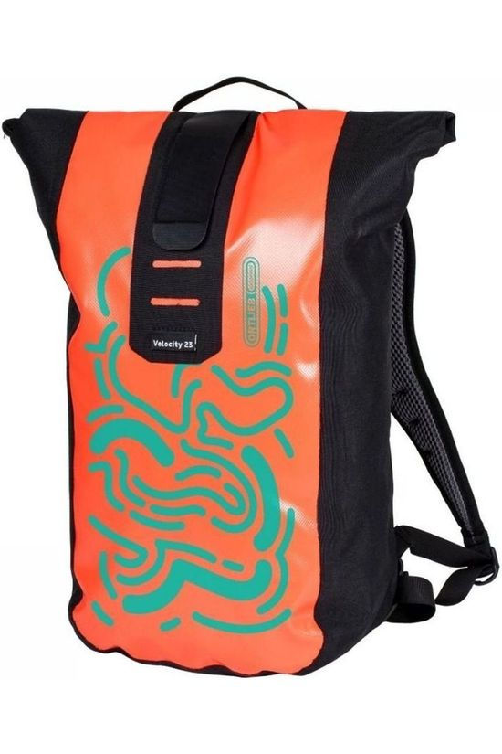 Ortlieb Bicycle Backpack Velocity Design 23L Salmon pink/Turquoise