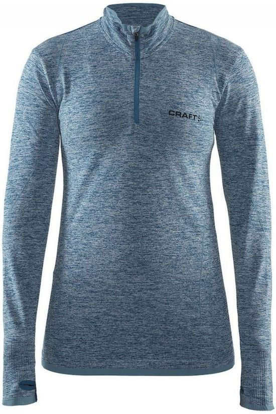 Craft T-Shirt Active Comfort Zip W Middenblauw