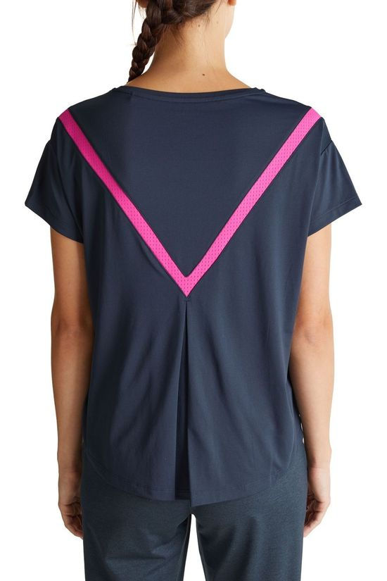 Esprit T-Shirt Edry Uni Fold On Back dark blue