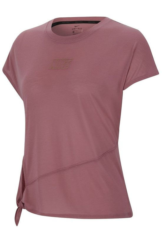 Nike T-Shirt W Dry SS Top Tie PP5 CB Middenroze