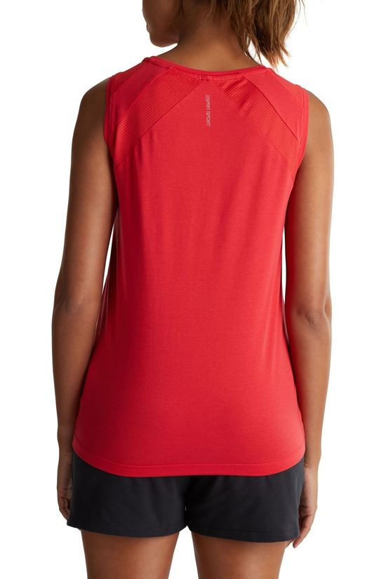 Esprit Top Sleeveless Mesh Rouge