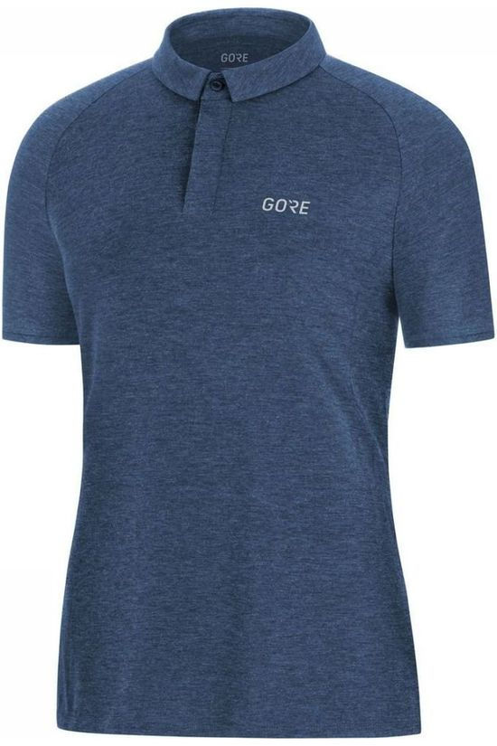 Gore Wear Polo M Signature Donkerblauw