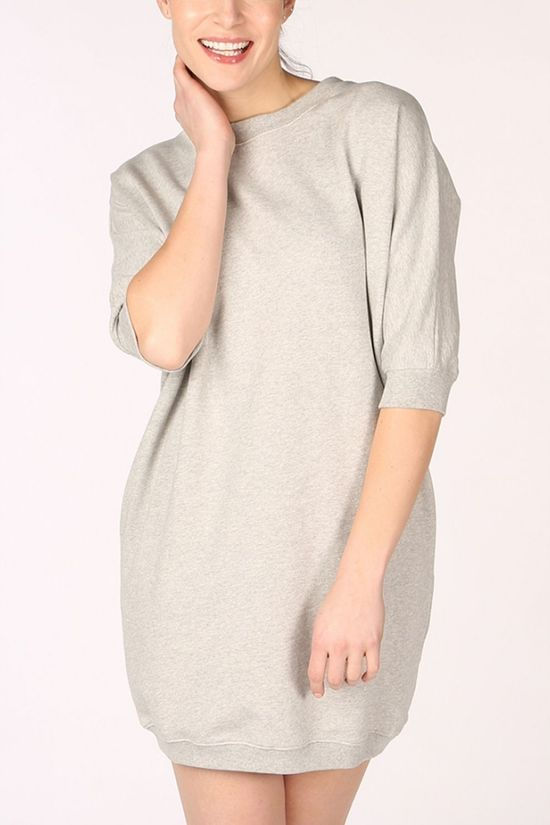 PlayPauze Pullover Cutie Dress Light Grey Marle