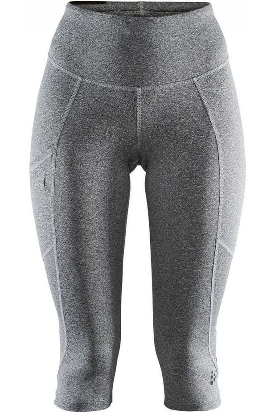 Craft Pantalon 3/4 De Sport Adv Essence Gris Moyen