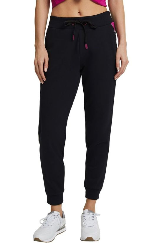 Esprit Pantalon De Survetement Coo Sweat Noir/Fuchsia