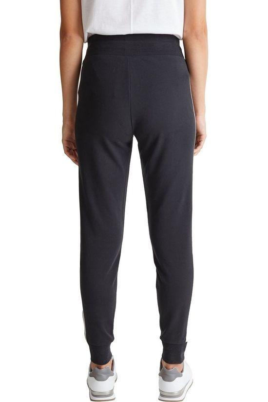 Esprit Joggingbroek Cuff Zipper Zwart