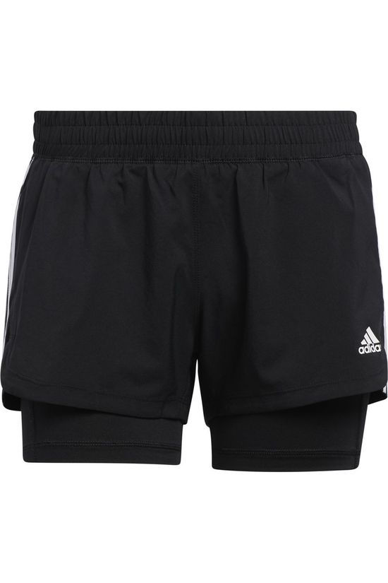 Adidas Short Pacer 3S 2 In 1 Noir
