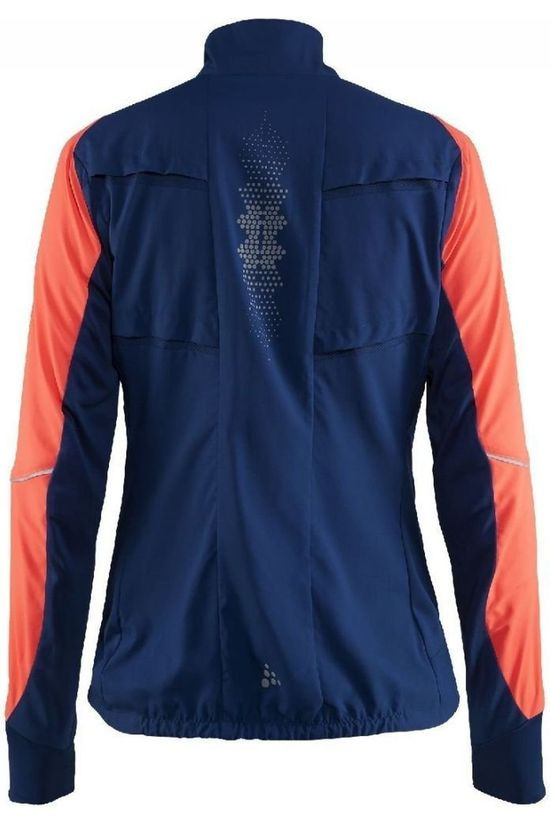 Craft Windstopper Brilliant 2.0 Light Jacket W Donkerblauw/Oranje