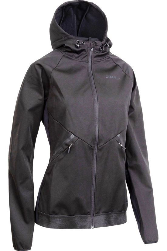 Craft Windstopper Glide Hood Jkt W Zwart