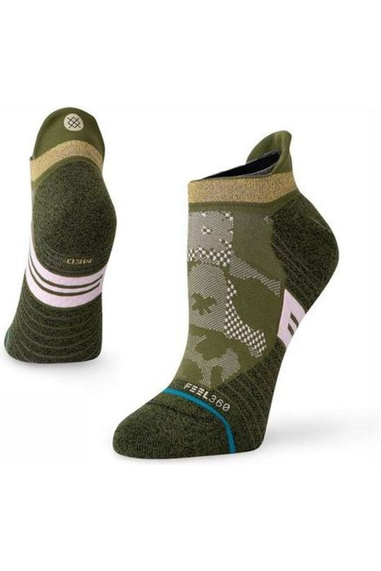Stance Sock Caught Up Tab light green