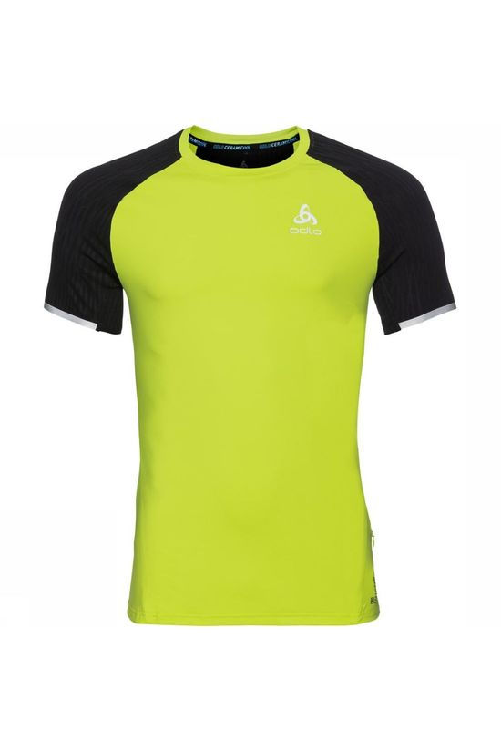Odlo T-Shirt Zeroweight Ceramicool Lime Green/Black