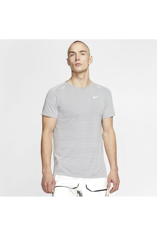 Nike T-Shirt Techknit Ultra SS Dark Grey Marle