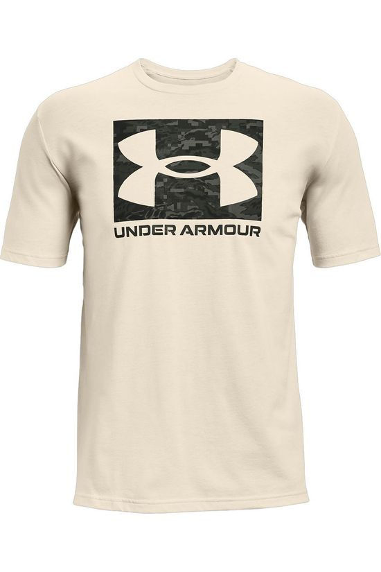 Under Armour T-Shirt Abc Camo Boxed Logo Ss light grey/black