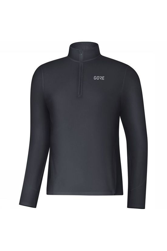 Gore Wear Pullover R3 Long Sleeve Zip black