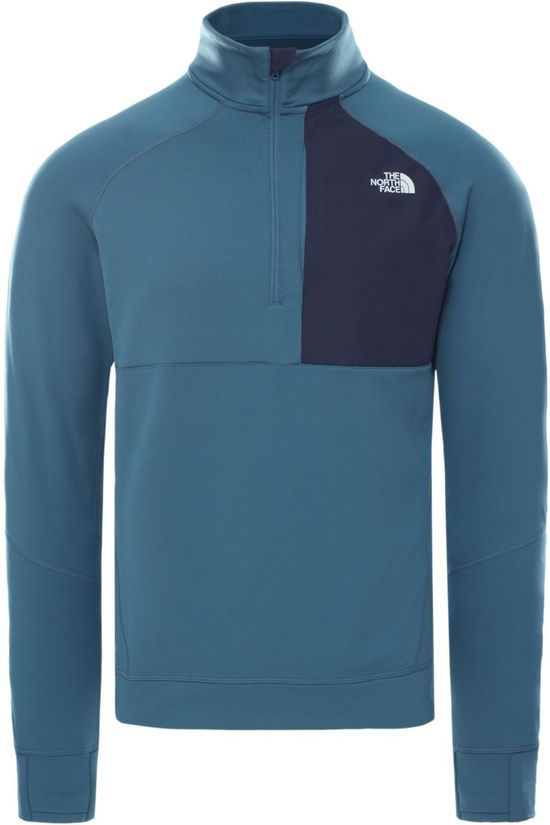 The North Face Pull Ambition 1/4 Zip Mid-Layer Bleu Moyen (Jeans)/Bleu Marin