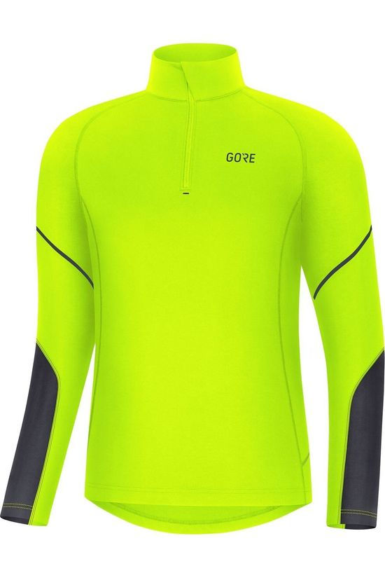 Gore Wear Pullover M Mid Long Sleeve Zip yellow/black