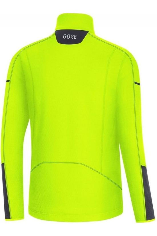 Gore Wear Trui M Thermo Long Sleeve Zip Geel/Zwart