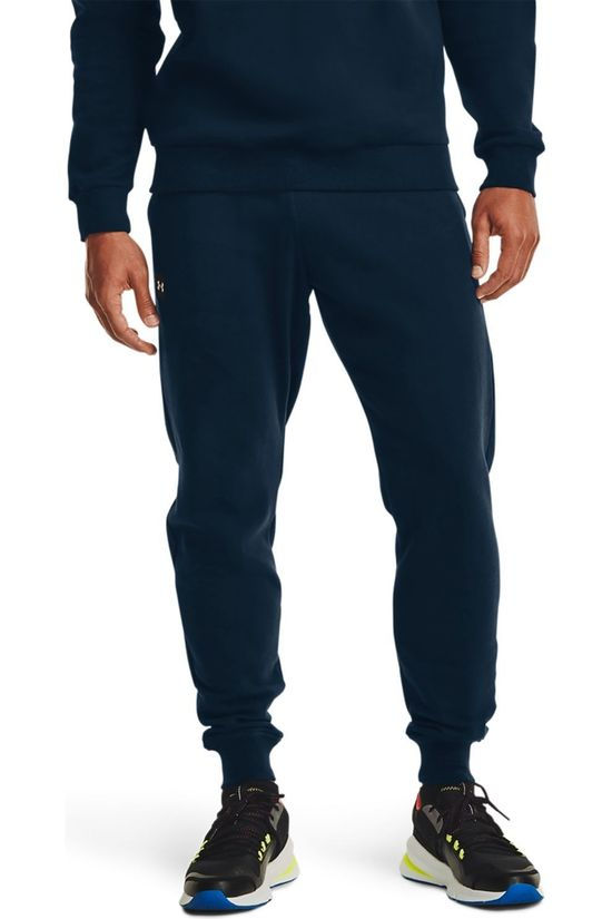Under Armour Joggingbroek Rival Fleece Joggers Donkerblauw