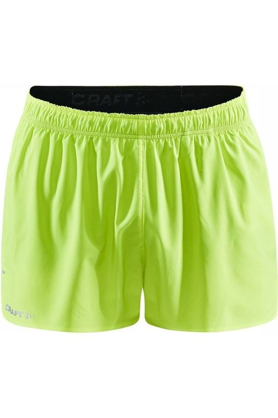 Craft Short Adv Essence 2'' Str Limoen Groen