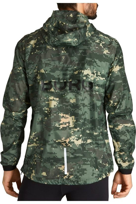 Bjorn Borg Coupe-Vent Wind Jacket Vert/Ass. Camouflage