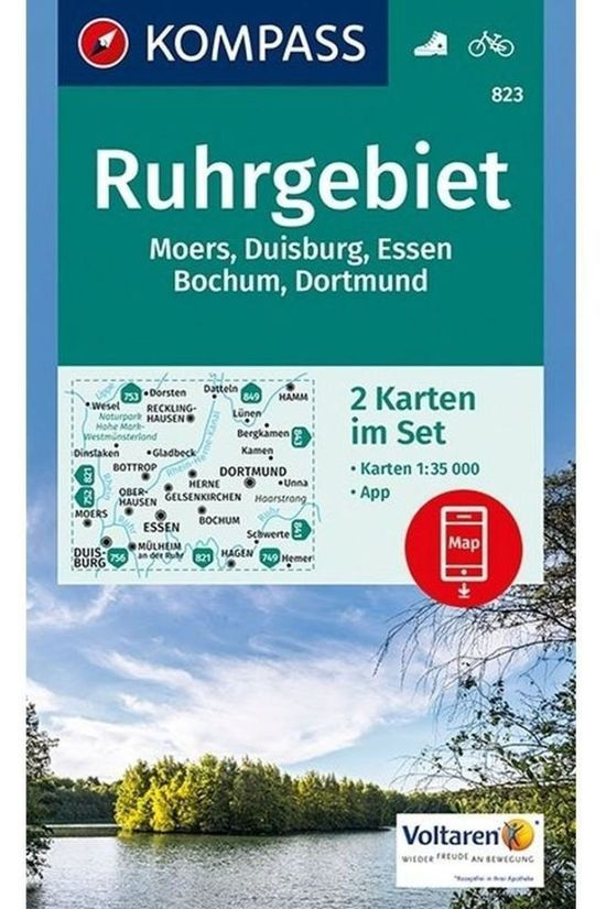 KOMPASS Ruhrgebiet 823 Gps2-Set Kompass 9021