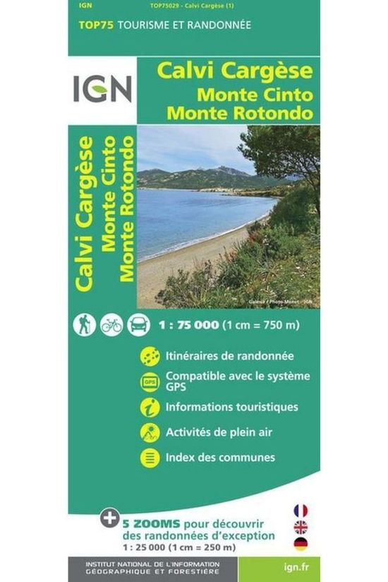 IGN Travel Book Calvi / Cargesse / Mt Cinto / Mte Rotondo ign - 75029 2013