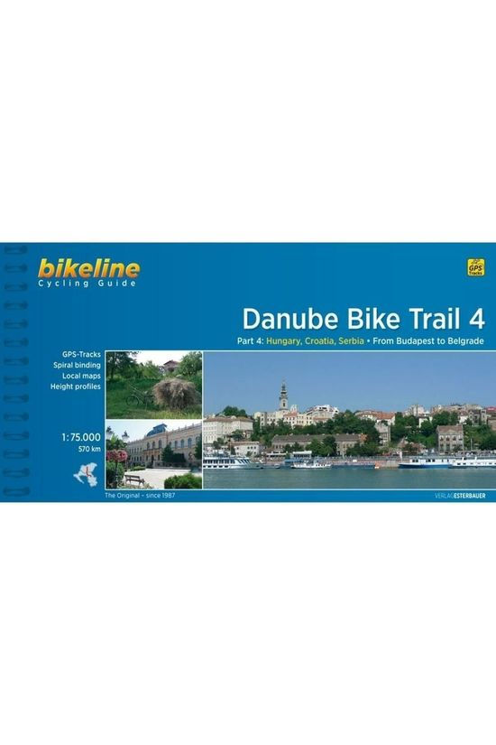 Bikeline Danube Bike Trail 4 Cycling Guide Budapest To Belgrade Gps 2015