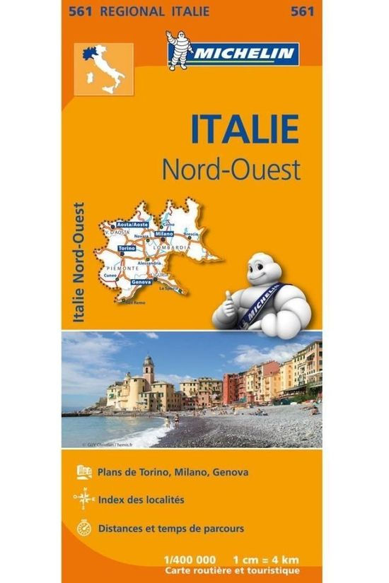 Michelin Travel Guide Italië Noord-West 561 mich (r) 2018