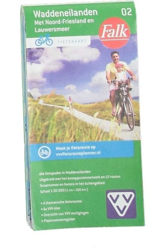 Falk Waddeneilanden 2 cycle map 2015