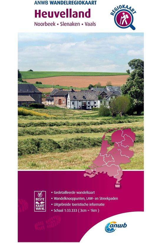 ANWB Heuvelland Hiking Region Map 2020