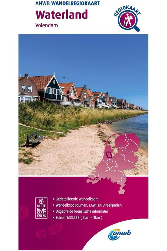 ANWB Waterland Hiking Region Map 2020