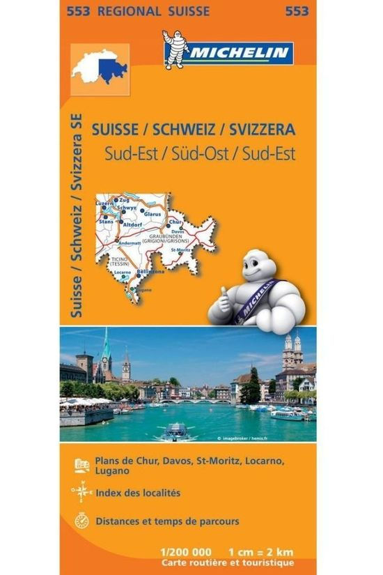 Michelin Travel Guide Zwitserland Zuid-Oost 553 mich (r) 2018