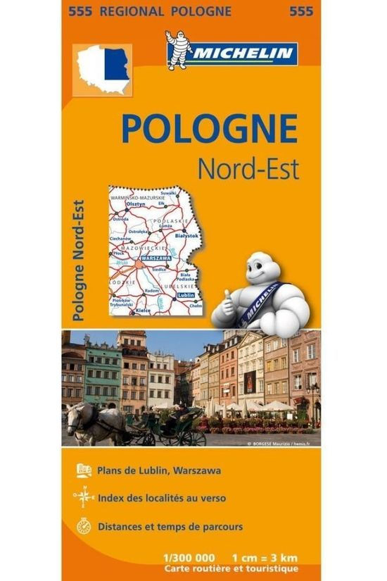Michelin Travel Guide Polen Noord-Oost 555 mich (r) 2018