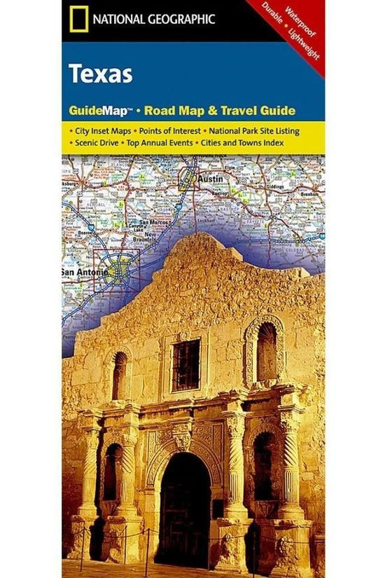 National Geographic Texasstate-guide map NP ng r/v r/v (r) wp-N12/2017 2015