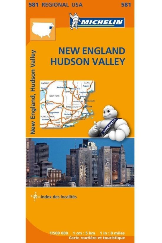 Michelin Guide de Voyage New England, Hudson Valley 581 mich (r) 2017