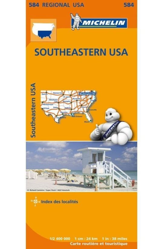 Michelin Travel Guide USA-Zuid-Oost584mich(r):N06/2013 2018