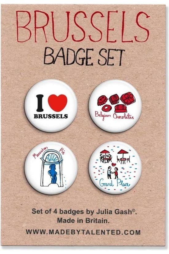 TALENTED Badges Set 4 Stuks Brussel 2017