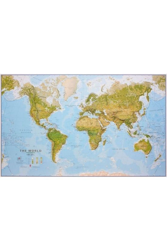 Maps International World environmental wall map laminated 2020