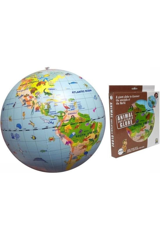 Caly Toys Wereldbol Inflatable Globe 50 Animals 2014