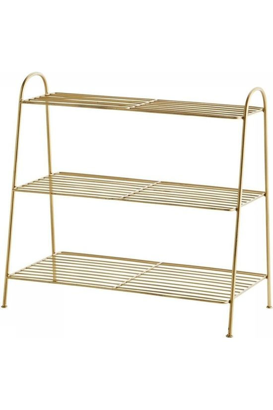 Madam Stoltz Petit Meuble Shoe Rack Or