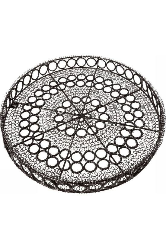 Yaya Home Basket Wire Round Pattern Middengrijs