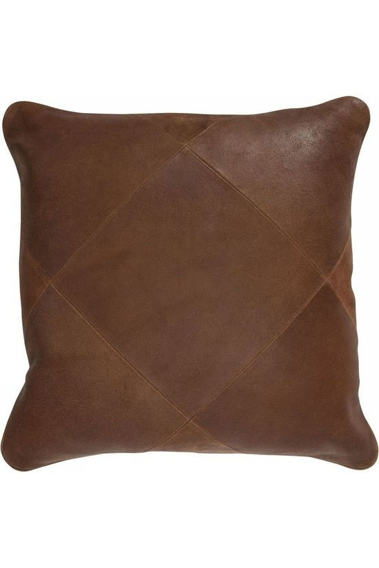 Yaya Home Kussen Tribe leather Bruin