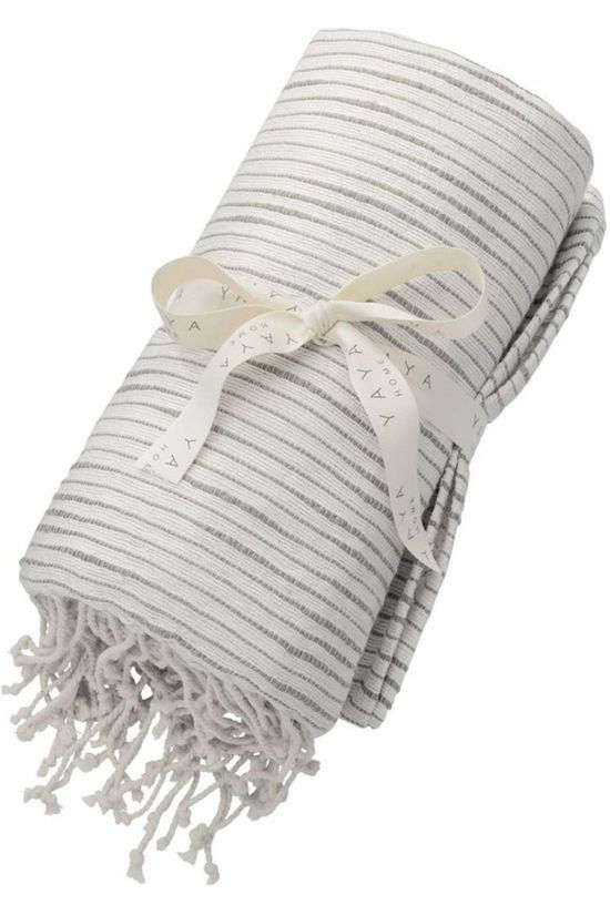 Yaya Home Pure Cotton Hammam Towel With Fringes mid grey